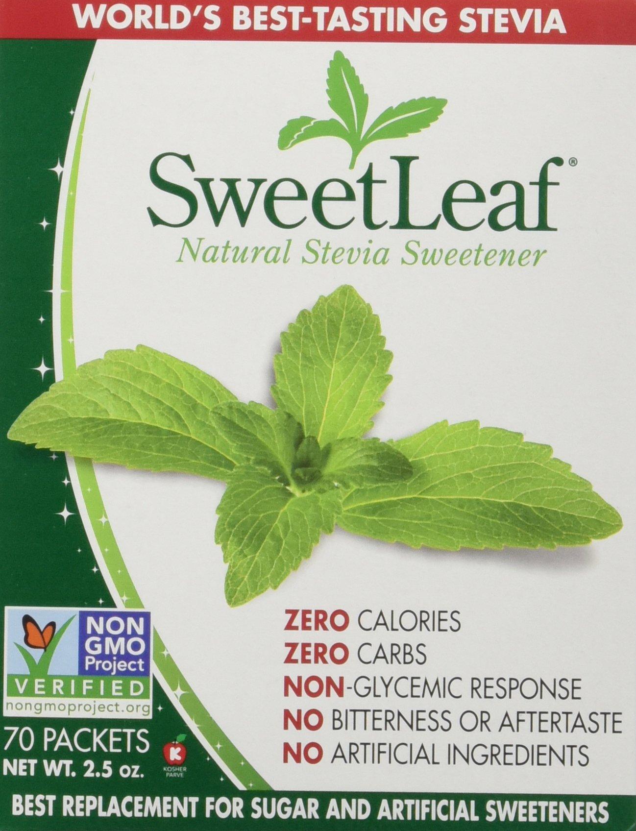 Wisdom Natural Brands - SweetLeaf Stevia Sweetener 70 packets 2.5oz(Pack of 2)