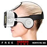 Procus PRO (White) VR Headset - 100-120 Degree FOV with Highest Immersive Experience - Inbuilt Headphones