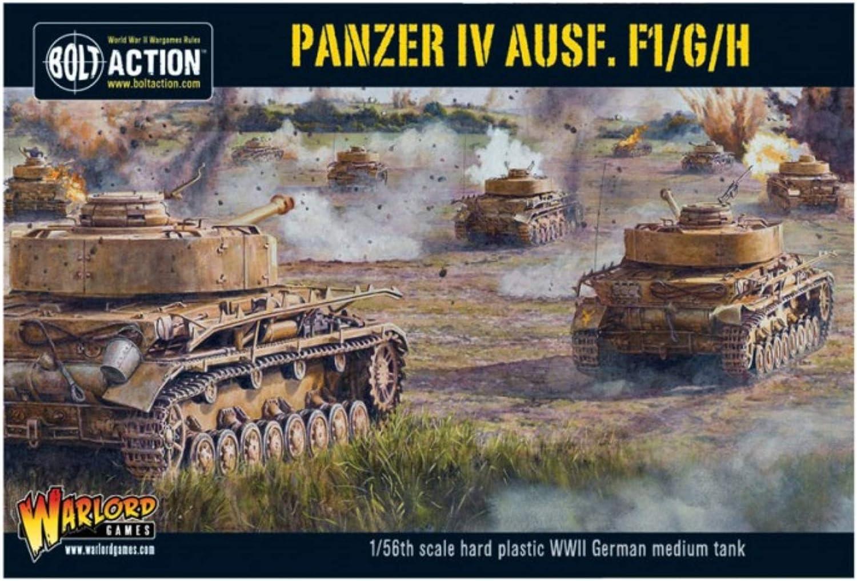 F1//G//H Medium Tank 1:56 WWII Military Wargaming Plastic Model Kit Bolt Action Panzer IV Ausf