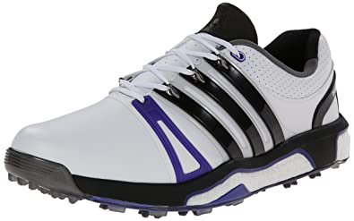 adidas Mens Asym RH Energy Boost Golf Shoe Running White/Core Black/Night 8 M