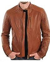 Iftekhar Men's Pure leather Jacket - tan - (Iftekhar38)