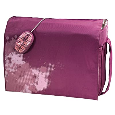 """Hama Boarder - Funda y ratón para portátiles de hasta 40 cm (15,6""""), color rosa"""