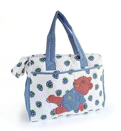Pale blue cotton mama's bag NiIai