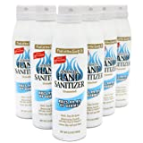 Made in USA, Hand Sanitizer 70% Ethyl Alcohol Kills 99.9% of Germs, 6-Pack, 5.5oz each with Aloe Vera & Vitamin-E for Soft Sk
