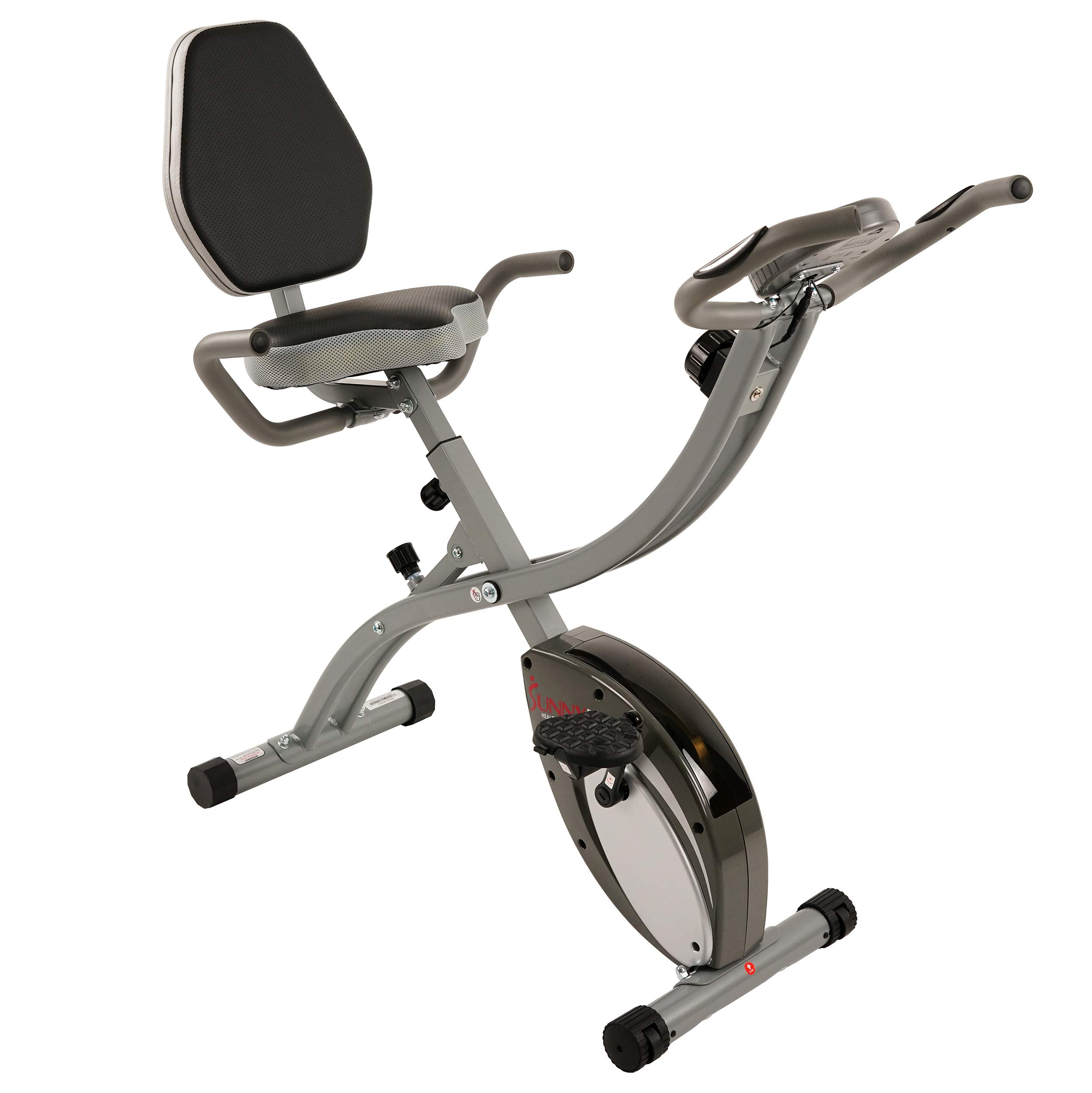 Sunny Health & Fitness Comfort XL Folding Semi-Recumbent Bike - SF-B2721 by Sunny Health & Fitness (Image #4)