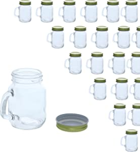 48 Pack Mini Mason Jars – Clear Jar Set with Gold Lids for Spices, Honey, Jam, Baby Food, Great DIY Gift for Wedding, Bridal Shower, and Baby Shower, 4 fl oz