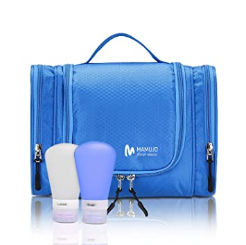 426c41459fa9 Hanging Toiletry Bag + 2 FREE Soft Silicone Travel Bottles - Toiletries Kit  & Accessories for Men and Women