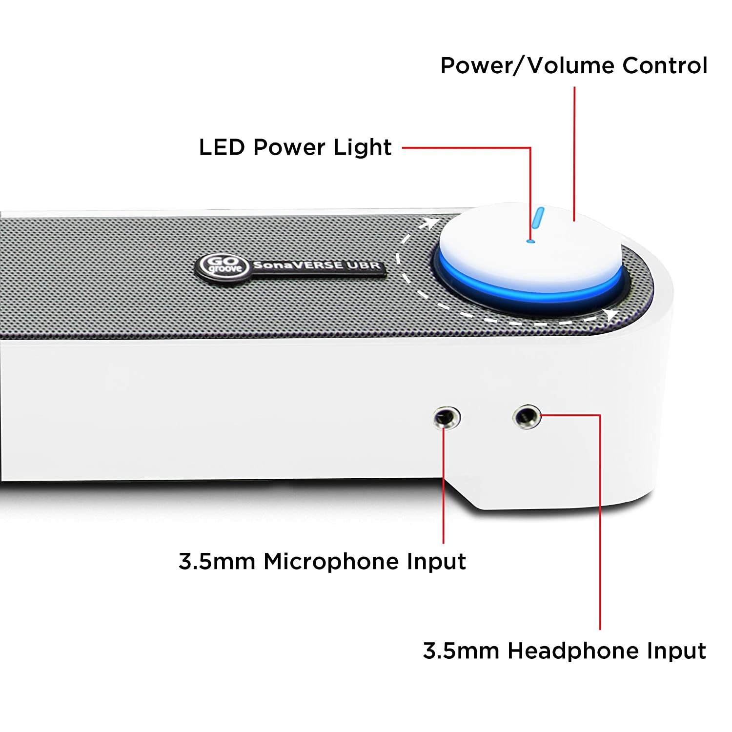 Gogroove Computer Usb Powered Mini Sound Bar Sonaverse Ubr Wired Front Wiring Diagram Soundbar Speaker 165 W