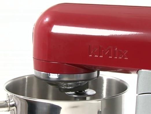 Kenwood kMix KMX51 - Robot de cocina, 500 W, capacidad de 5 l, 6 velocidades, 3 herramientas, color plateado y rojo burdeos: Amazon.es: Hogar