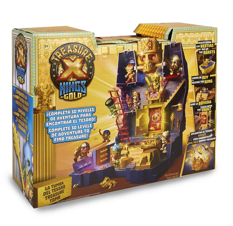 Multicolor Treasure X para Ni/ños y Ni/ñas a Partir de 5 A/ños Reyes y Guerreros Famosa 700015408 Figuras de Acci/ón Coleccionable Serie 3
