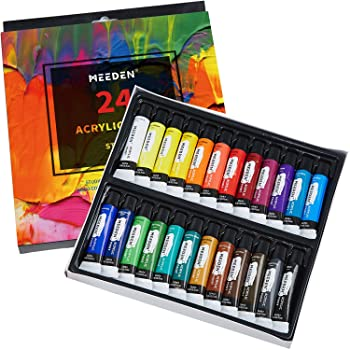 MEEDEN Set of 24 Colors Acrylic Paint