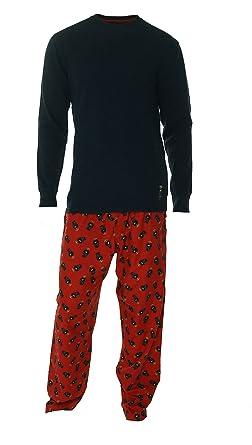 Polo Ralph Lauren Mens Polo Bear Pajama Set (M, Navy)