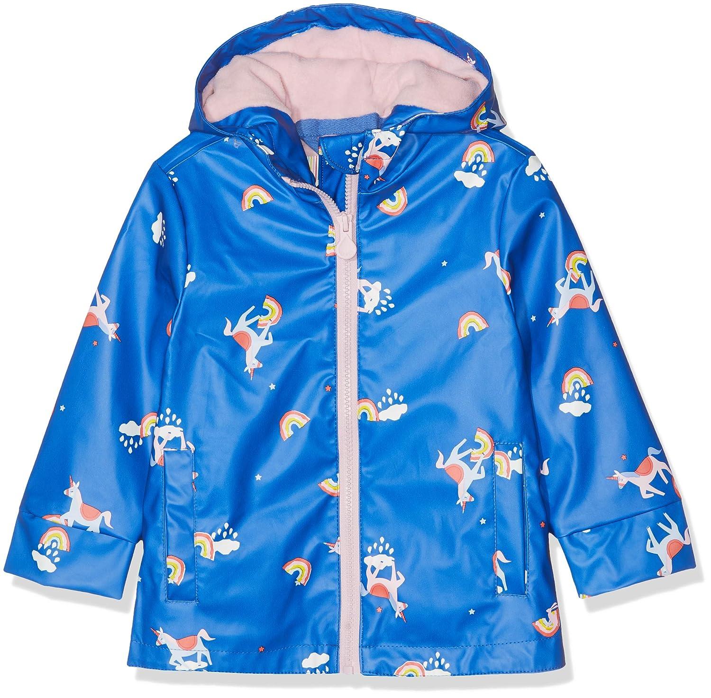 Joules Kids Baby Girls Raindance Raincoat Blue Unicorn Cloud 6 Toddler//Little Kids//Big Kids