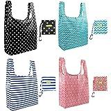 amazon com foldable reusable grocery bags 5 cute designs folding