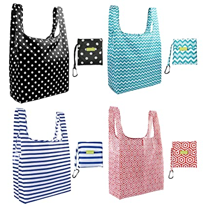 c87eb2851 Amazon.com  Foldable Reusable Grocery Bags Cute Designs