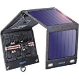 Solar Charger Solar Panel Charger, VITCOCO 16W Foldable Solar Phone Charger with 2 USB Ports & Display Function for…