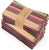 "Ruvanti Cloth Napkins 12 Pack(100% Cotton 20""X20"") Dinner Napkins,Soft&Comfortable Cotton Napkins. Red Salsa Stripe…"