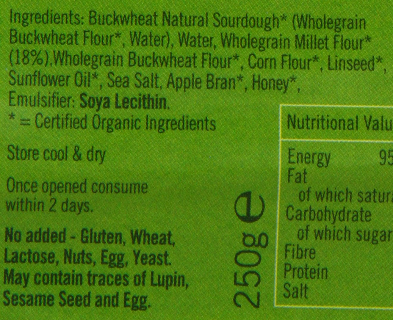 Biona buckwheat and millet bread
