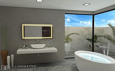 Amazon Com Ib Mirror Lighted Bathroom Mirror Harmony 24 In X 48 In