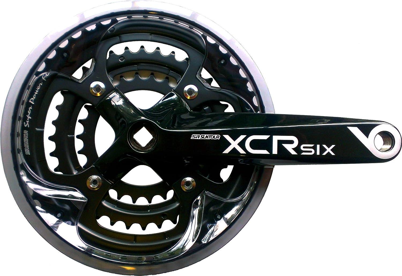 SR Suntour CW14 XCR6-T424 Chainset: 170mm Black by SR SUNTOUR