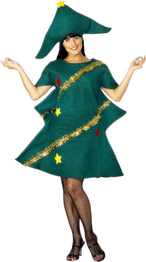 Disfraz de árbol de Navidad para mujer Talla única: Amazon.es ...