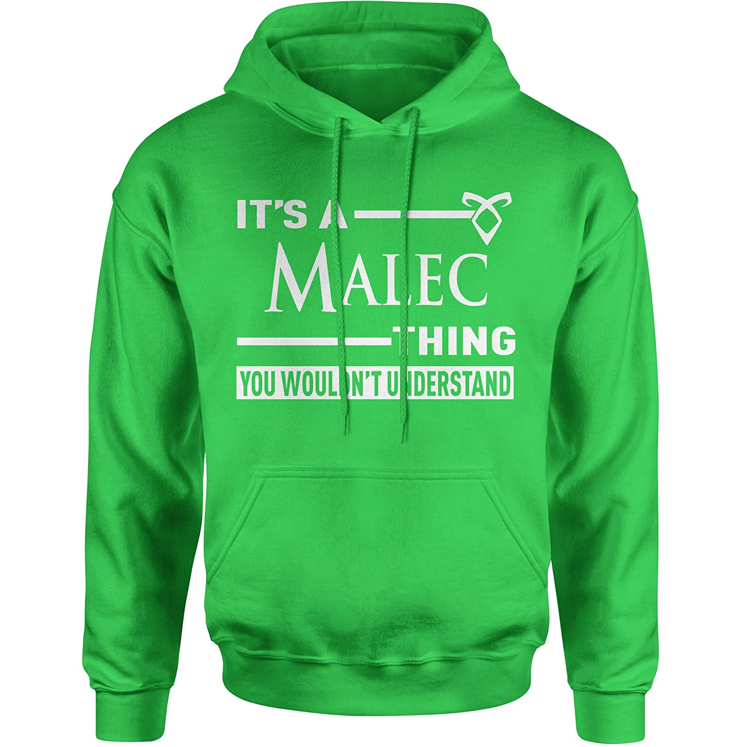 Expression Tees It's A Malec Thing, You Wouldn't Understand Unisex Adult Hoodie You Wouldn' t Understand Unisex Adult Hoodie 2174-H