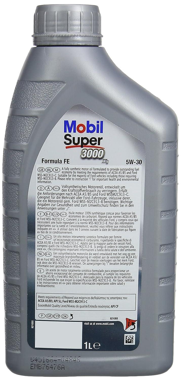 Mobil 1 151525 Super 3000 X1 Formula FE 5W-30 Aceites de Motor para Coches 5 litros: Amazon.es: Coche y moto