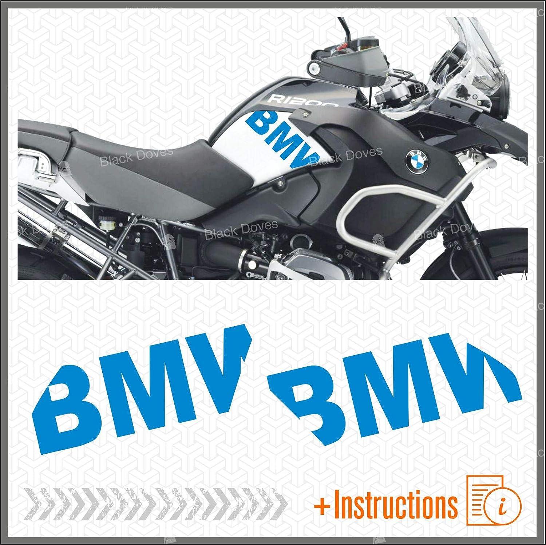 2 adhesivos para dep/ósito de moto Fianco compatible con R1200GS Adventure 2008-2013 R 1200 GS Motorrad Moto R1200 ADV antracita
