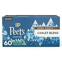 Deals on 60CT Peets Coffee Dark Roast Single Serve KCup Chalet Blend
