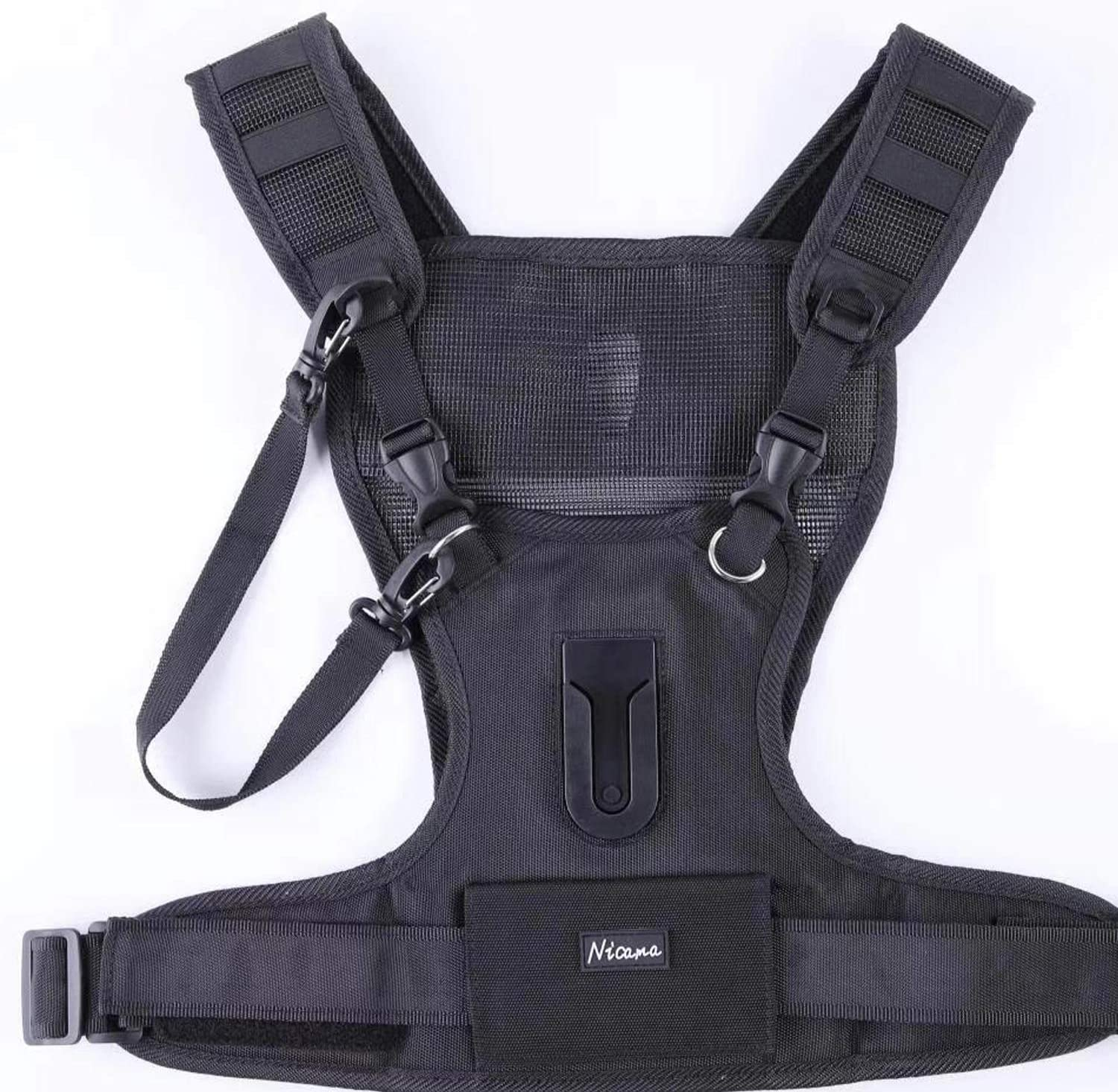 Nicama Camera Strap Carrier Chest Harness Vest with Mounting Hubs /& Backup Safety Straps for Hiking Canon 6D 5D2 5D3 Nikon D800 D810 Sony A7S A7R A7S2 Sigma Olympus DSLR Cameras