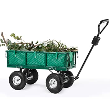 Amazoncom Vonhaus All terrain Heavy Duty Garden Cart High Load