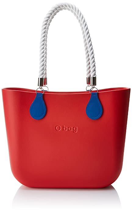 afdd2fc657 O bag B001_076 Zip, Borsa a Mano Donna, Multicolore (Rosso), 14x31x39