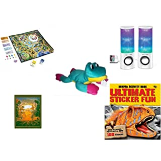 Children's Fun & Educational Gift Bundle - Ages 6-12 [5 Piece] - Includes: Game - Toy - Plush - Hardcover Book - Paperback Book - No. dbund-6-12-27558
