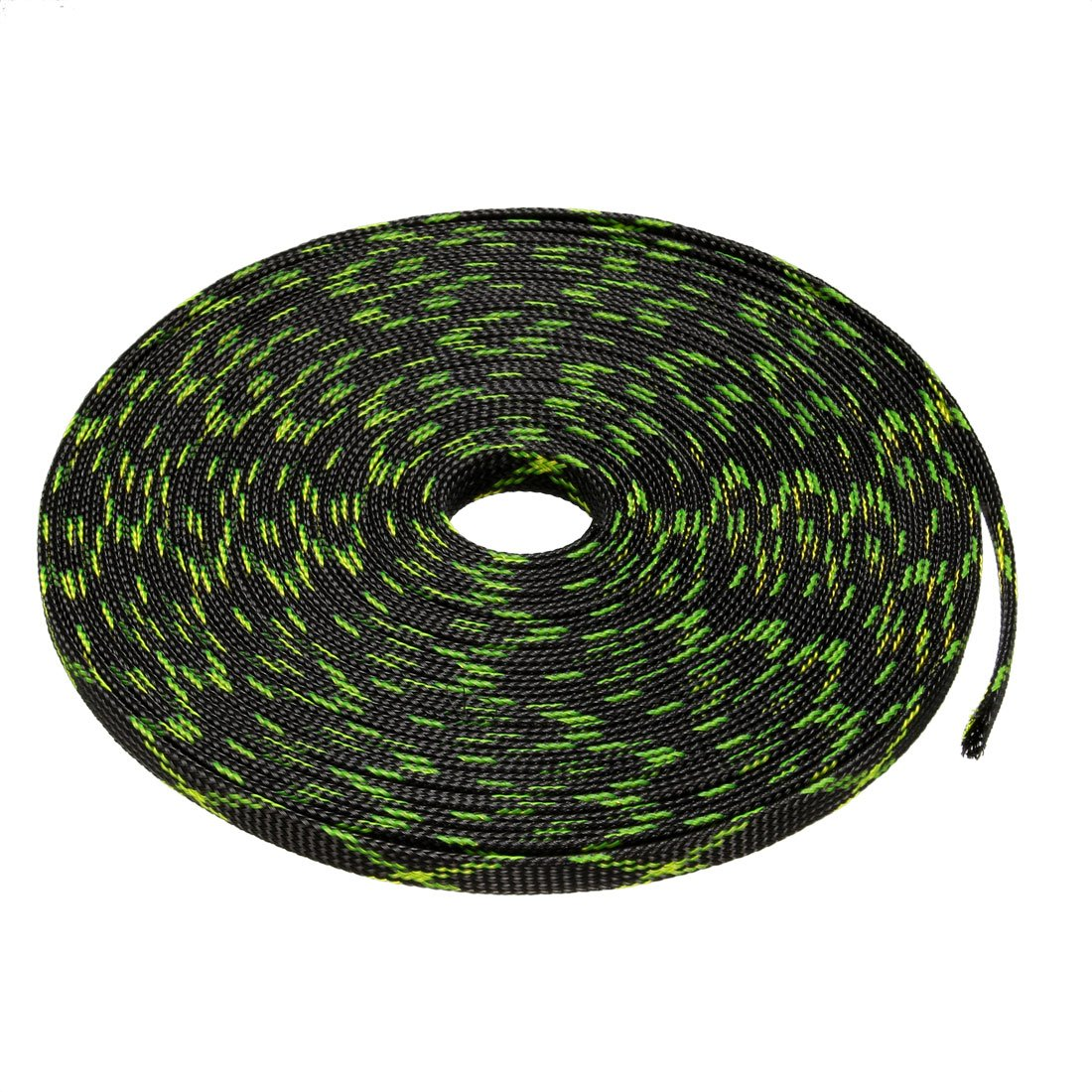 uxcell 9.84ft 3mm Dia. PET Expandable Braided Sleeving 3 Meters Cable Management Sleeve Cord Organizer for Wrap Protect Cables Green a18050400ux0147