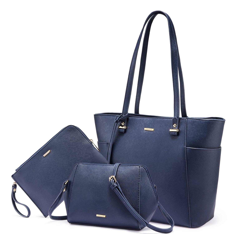 LOVEVOOK Women Purses and Handbags Chic Crossbody Bag Hobo 3pcs Large Capacity Blue
