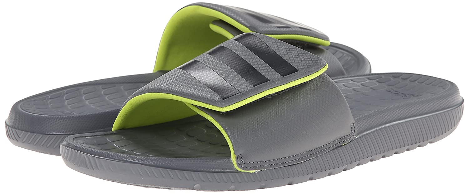 Amazon.com | adidas Performance Men's Voloomix Vario M Slide Sandal, Vista  Grey/Semi Solar Yellow/Dark Shale, 14 M US | Sport Sandals & Slides