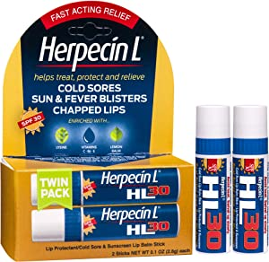 Herpecin-L Lip Protectant/Cold Sore & Sunscreen Lip Balm Twin Pack