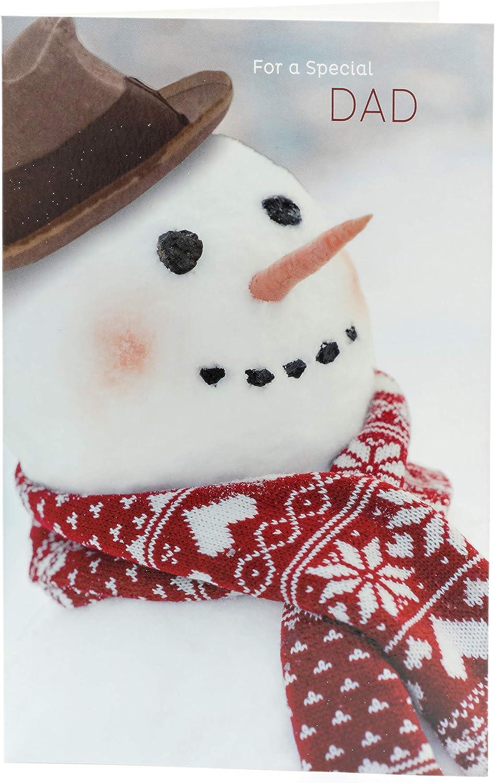 Dad Christmas Card Snowman Christmas Card For Dad Christmas Card For Dad
