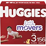 Baby Diapers Size 3, 156 Ct, Huggies Little Movers (Best Choice)