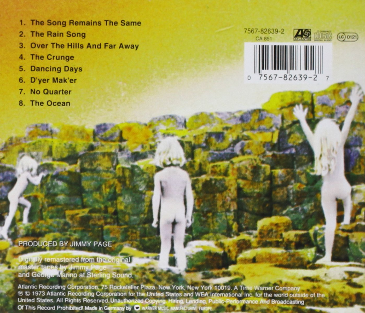 Resultado de imagen de led zeppelin houses of the holy album covers