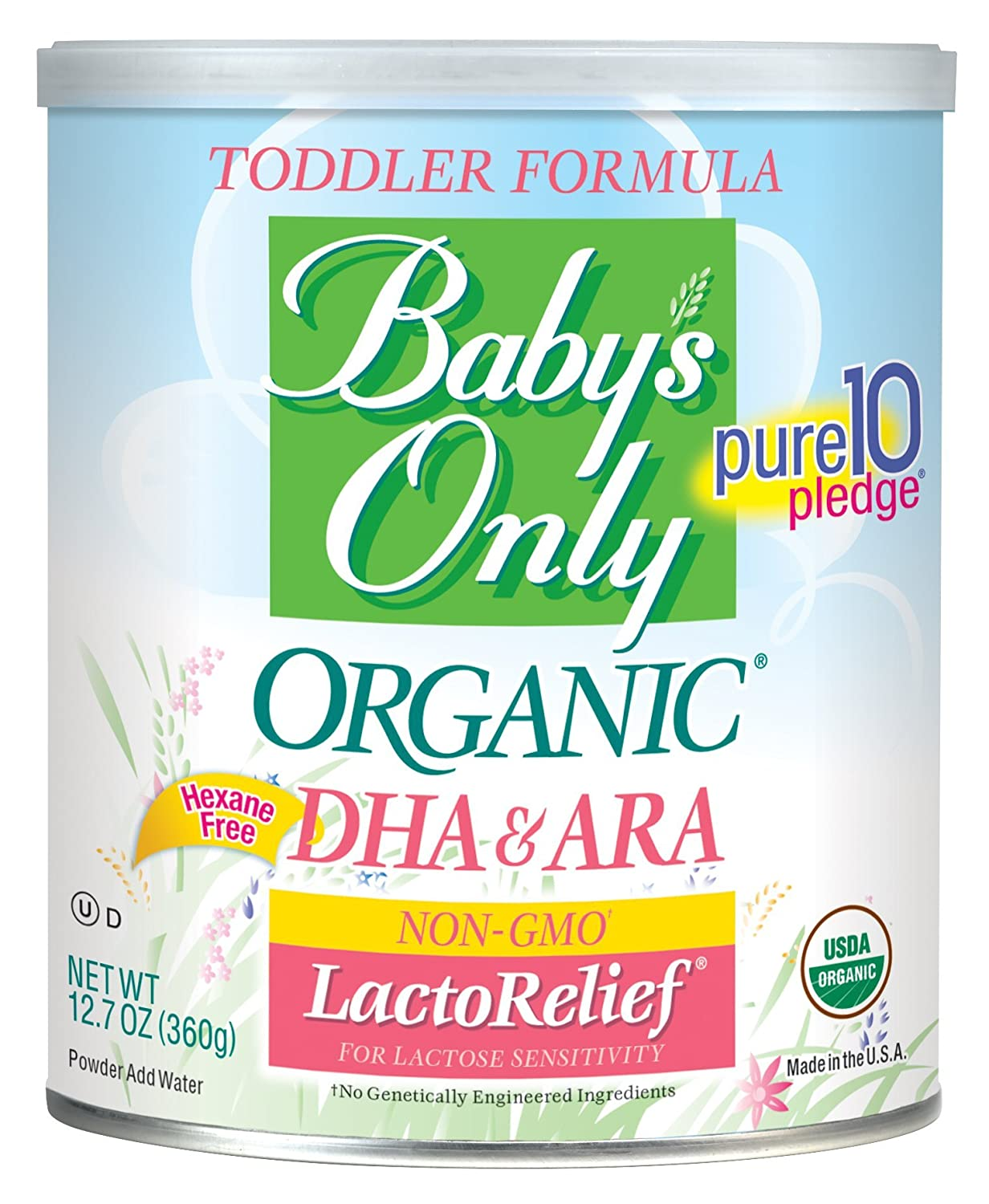 Baby's Only Organic LactoRelief with DHA & ARA Toddler Formula, 12.7 Ounce (Pack of 6) Baby's Only NO-004C