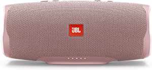 JBL Charge 4 Portable Bluetooth Speaker and Power Bank with Rechargeable Battery for More Devices – Waterproof – Pink