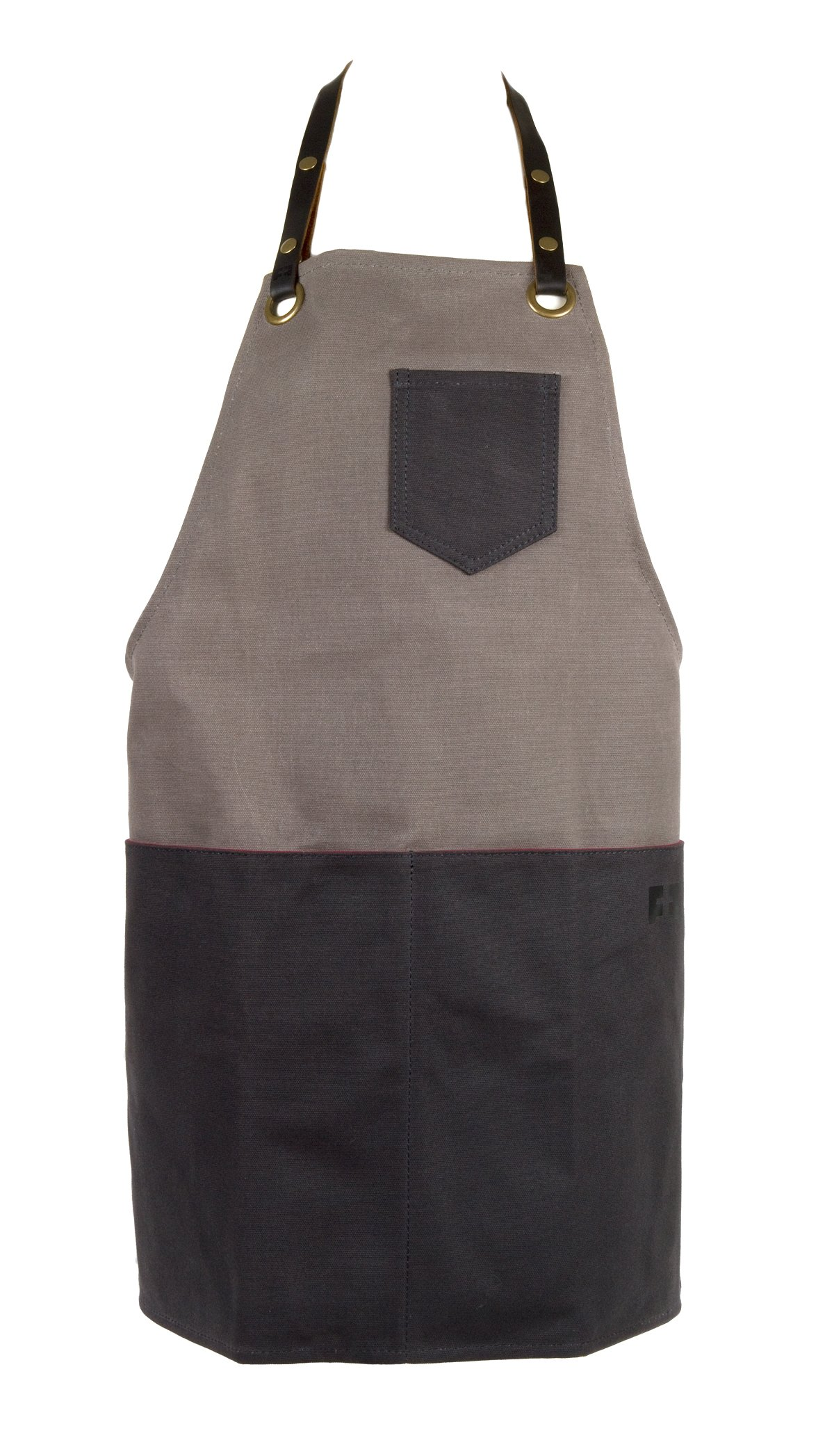 Waxed Cotton Canvas Shop Apron for Chefs, Baristas, Bike or Ski Mechanics, Woodworkers   the Edison Everyday Apron by FAT FELT