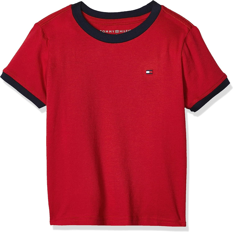 Tommy Hilfiger Boys' Big Ken Tee (Toddler/Little Kids), Regal Red, Large: Fashion T Shirts: Clothing