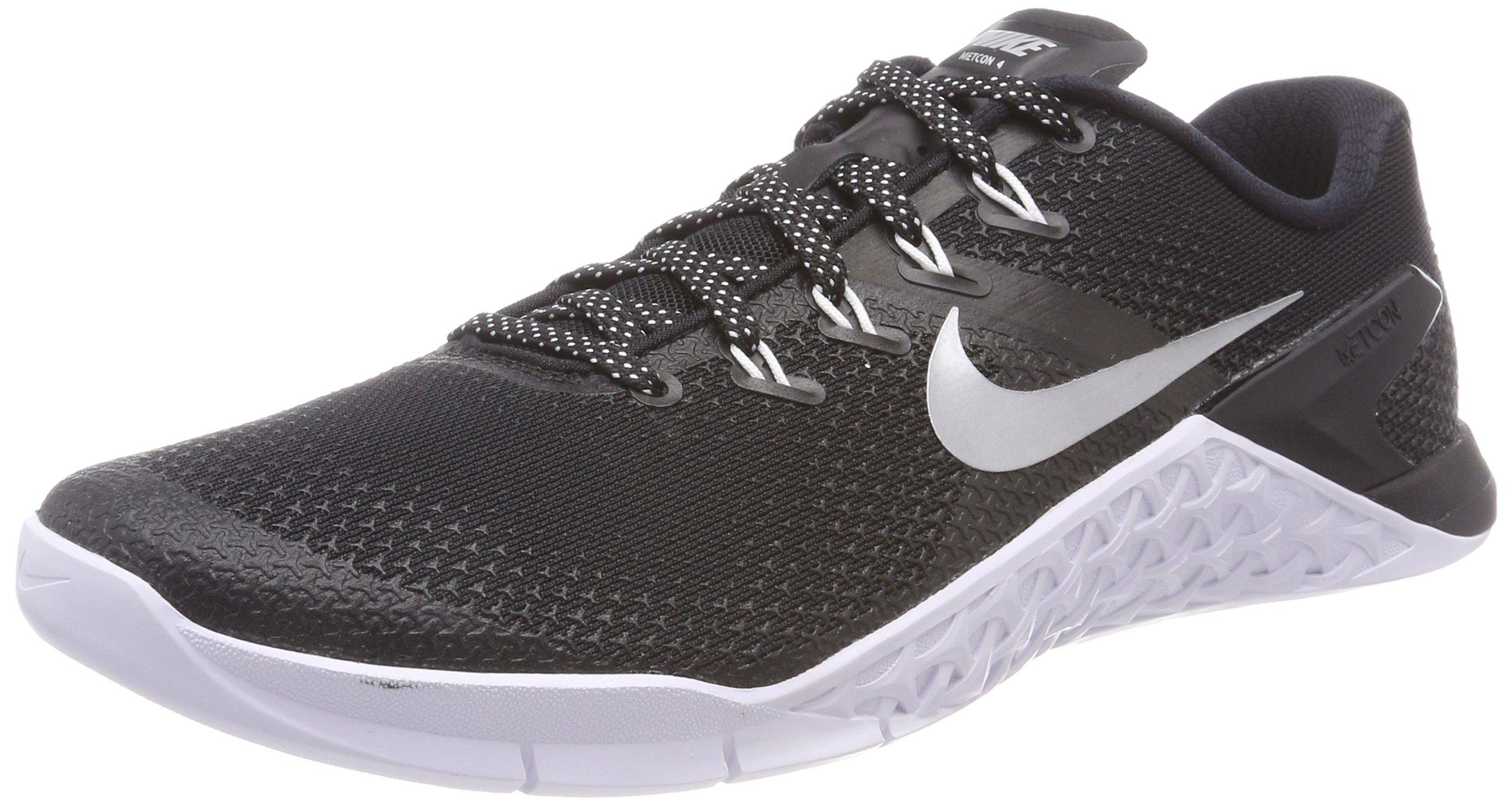 Nike Women's Metcon 4 Training Shoe Black/Metallic Silver-White-Volt Glow 6.0
