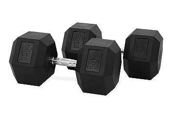 Hastings-Conjunto de Mancuernas Hexagonales-50kg: Amazon.es: Deportes y aire libre