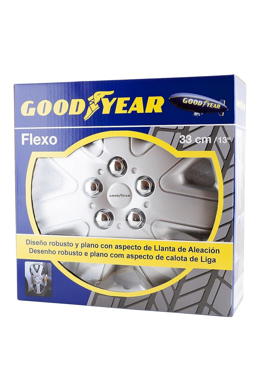 Good Year GOD9034 - Set de 4 Tapacubos Flexo 50, Plata, 13 Pulgadas: Amazon.es: Coche y moto