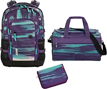 9756b739802c9 Image Unavailable. Image not available for. Colour  4YOU Basic School  Rucksack Set 3 Pieces Jump 842 Shades Purple ...