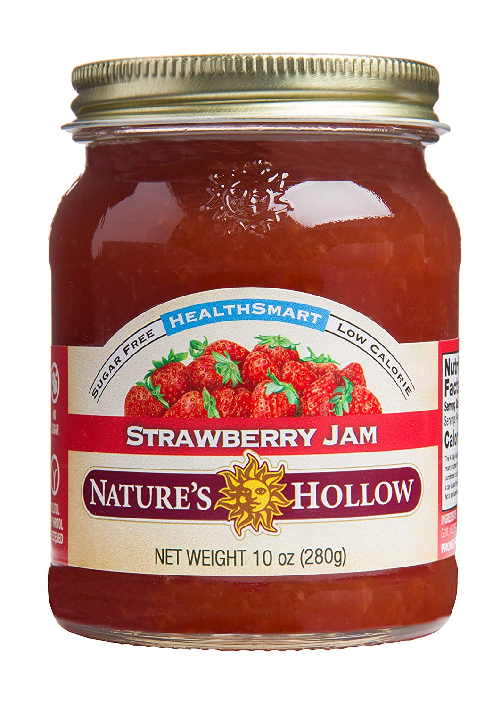 Nature's Hollow, Sugar-Free Strawberry Jam Preserves, Non GMO, Keto Friendly, Vegan and Gluten Free - 10 Ounce