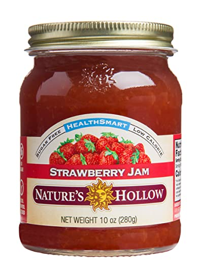Nature's Hollow, Sugar-Free Strawberry Jam Preserves, Non GMO, Keto  Friendly, Vegan and Gluten